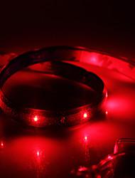 Impermeable 60cm 24-LED Rojo LED Luz de tira (12V)