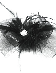 Women's Feather Tulle Headpiece-Special Occasion Fascinators