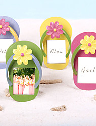 Place Cards and Holders Slippers Place Card/Photo Frames(Set of 4 colors)