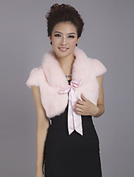 Wedding  Wraps Fur Wraps Shrugs Short Sleeve Feather/Fur Party/Evening Lace-up Yes