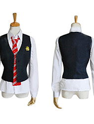 Inspired by Uta no Prince Sama Ren Jinguuji Video Game Cosplay Costumes Cosplay Suits / School Uniforms Patchwork Black SleevelessVest /