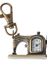 Unisex Sewing Machine Design Alloy Analog Quartz Keychain Watch (Bronze) Cool Watches Unique Watches Fashion Watch