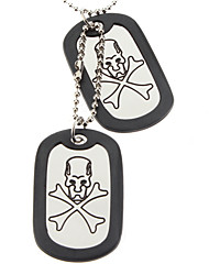 Crossbones Double-faced Glaze Gasket Necklace