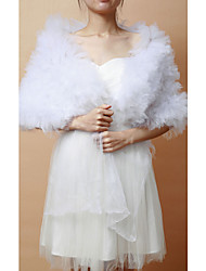 Wedding  Wraps Shawls Sleeveless Tulle As Picture Shown Wedding / Party/Evening Clasp