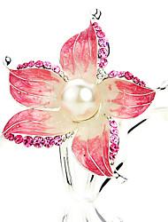 Цветок женщин Перл Diamond волосы палки (11,3 * 4.7cm)