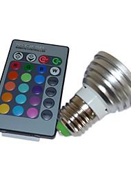 Bulbo 5W LED multi-cor com controle remoto (4 packs)