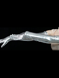 Gloves Ninja Zentai Cosplay Costumes Silver Solid Gloves Spandex Unisex Halloween / Christmas