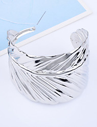 Lureme®Silver Plated Leaf Shaped Alloy Bracelet