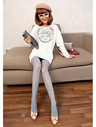 Damen Polka Dots Überprüfen Jacquard Weave Pantyhose