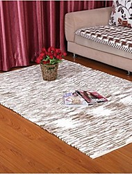 ELAINE Colorful Cotton Carpet Patterned with Stripe (130*190cm,Grey)