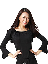 Dancewear Viscose Long Sleeve Latin Dance Top For Ladies More Colors