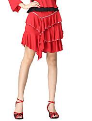 Dancewear Viscose Practice Latin Dance Skirt For Ladies More Colors