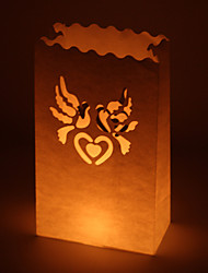 Wedding Décor Dove Cut-out Paper Luminary (Set of 4)