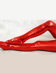Socks/Stockings Ninja Zentai Cosplay Costumes Red Solid Stockings Spandex Unisex Halloween / Christmas