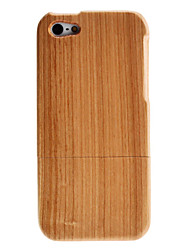 Simple Pattern Detachable Wooden Case for iPhone 5