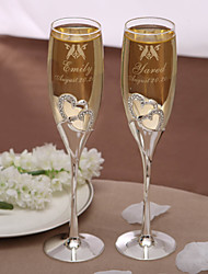 Personalized Toasting Flutes - Love Birds
