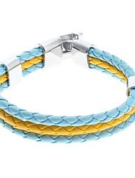 z&X® gêmeo tecer cor pulseira de couro galloon