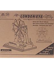 DIY Solar Power Self Energy Assembléia de madeira London Eye Kit Roda Gigante