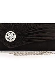 Elegant Satin with Crystal Evening Handbag/Clutches