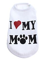 Amour Ma maman Vest style confortable pour chiens (White, XS-L)
