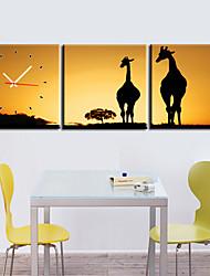 Modern Style Scenic Canvas Wall Clock 3pcs K248