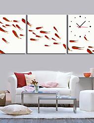 Modern Style Scenic Canvas Wall Clock 3pcs K212