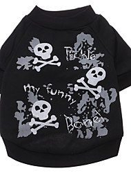Happy Skull Pattern T-Shirt for Dogs (S-XXL)