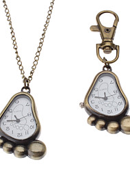 Unisex Sole Style Alloy Analog Quartz Keychain Necklace Watch (Bronze) Cool Watches Unique Watches