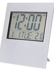 """6 """"LCD de escritorio / pared despertador digital temporizador termómetro reloj calendario (2xAA)"""