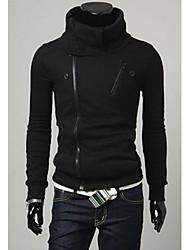 rr comprare taglio slim collo alto di colore solido giacca di tweed