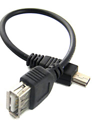 Mini USB a USB hembra cable (15 cm)