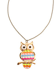 Rainbow Retro Owl collar