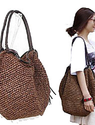 Women's Basic Solid Color Tassels Tote