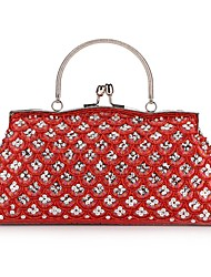 Charming Satin with Crystal and Sequins Evening Handbag/Clutches(More Colors)