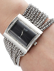 Damen Alloy Analog Quarz Armband Watch (Silver)