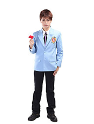 Inspired by Ouran High School Host Club Haruhi Fujioka Anime Cosplay Costumes Cosplay Suits / School Uniforms Patchwork Black / BlueLong