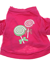 Hunde - Sommer - Baumwolle Rose - T-shirt - XS / M / S / L