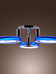 Comtemporary Acrylic Flush Mount Lights with 3 Lights in Rings Design