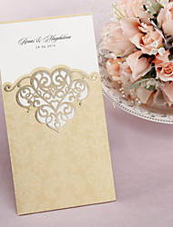 Personalized Wedding Invitation With Laser-cut Pattern - Set of 50/20 (More Colors)