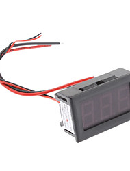 3-dígitos Display Panel Digital / Amperímetro (Negro, DC 10A)