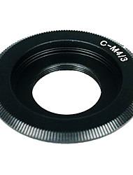 Negro C Mount Lens para Micro 4/3 adaptador de E-P1 E-P2 E-P3 G1 GF1 GH1 GH2 G2 G3 GF2 GF3