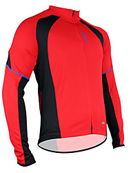 SANTIC® Cycling Jersey Men's Long Sleeve Bike Breathable / Thermal / Warm / Quick Dry / Moisture Permeability / Sweat-wickingJersey /
