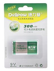 Delipow 9V 300 mAh NI-MH Rechargeable Battery