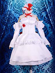 traje de cosplay inspirado en Touhou Project Remilia Scarlet gk. ver vestido de blanco