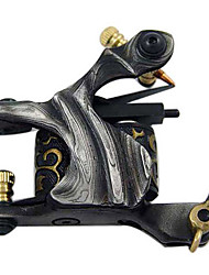 Damascus Steel Wire Cutting Tattoo Machine Gun for Shader