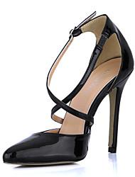 Calçados Femininos - Saltos - Saltos - Salto Agulha - Preto - Couro Envernizado - Social