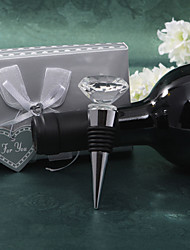 "Crystal Bottle Favor Bottle Stoppers Garden Theme Non-personalised Silver 3 1/2"" x 1 1/2"" (8.9*3.8cm)Gift box with a organza ribbon and """
