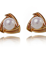 Elegant Alloy Pearl Irregular Stud Earrings