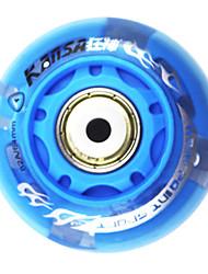 Gummi-und Carbon Steel Skate Rad Schimmernde Damping Anti-skip (1PCS, Durchmesser = 64mm, verschiedene Farben)