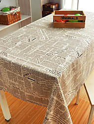 Newspaper Style Table Cloth